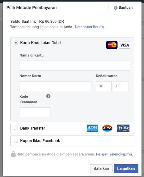 Cara Isi Saldo Iklan Facebook Instagram Melalui Transfer Bank Refrez